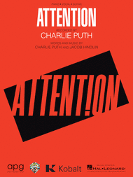 CHARLIE PUTH ATTENTION PIANO SHEET MUSIC